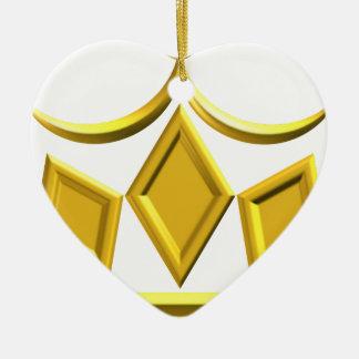 Ornamento De Cerâmica Coroa do ouro