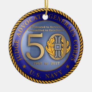 Ornamento De Cerâmica Corpo 50th do ENTALHE do marinho