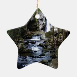 Ornamento De Cerâmica córrego silencioso na floresta