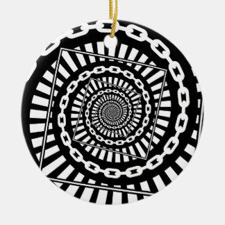 Ornamento De Cerâmica Correntes do golfe do disco