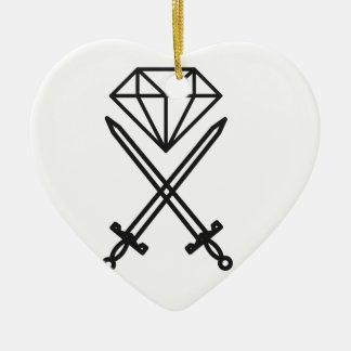 Ornamento De Cerâmica Corte do diamante