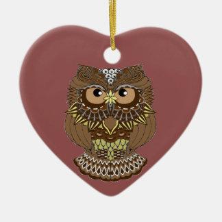 Ornamento De Cerâmica Coruja