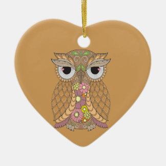 Ornamento De Cerâmica Coruja 1