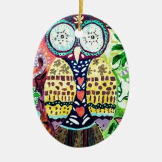 Ornamento De Cerâmica Coruja apedrejada