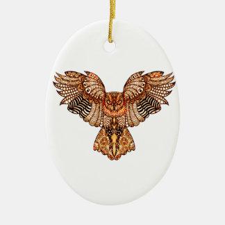 Ornamento De Cerâmica Coruja em vôo 2