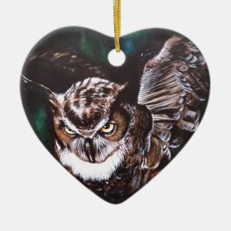 Ornamento De Cerâmica Coruja na noite