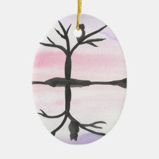 Ornamento De Cerâmica Coruja refletida