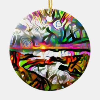 Ornamento De Cerâmica Costa abstrata
