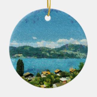 Ornamento De Cerâmica Costa do lago