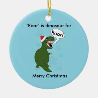 Ornamento De Cerâmica Costume do azul do dinossauro de Rex do