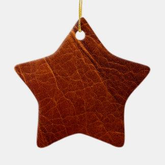 Ornamento De Cerâmica Couro