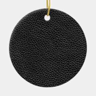 Ornamento De Cerâmica Couro preto do falso
