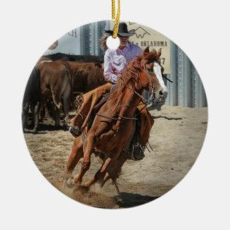 Ornamento De Cerâmica cowgir