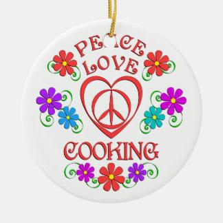 Ornamento De Cerâmica Cozinhar do amor da paz