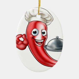 Ornamento De Cerâmica Cozinheiro chefe da pimenta dos desenhos animados
