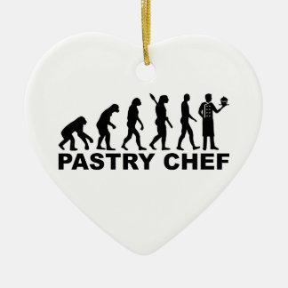 Ornamento De Cerâmica Cozinheiro chefe de pastelaria da evolução