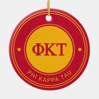 Ornamento De Cerâmica Crachá da tau | do Kappa da phi