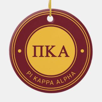 Ornamento De Cerâmica Crachá do alfa | do Kappa do Pi