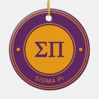 Ornamento De Cerâmica Crachá do Pi | do Sigma