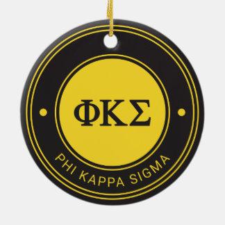 Ornamento De Cerâmica Crachá do Sigma | do Kappa da phi