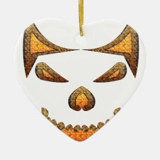 Ornamento De Cerâmica Crânio