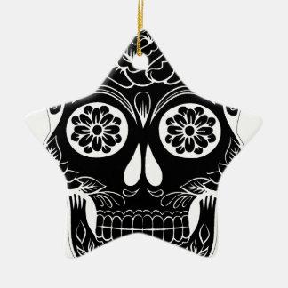 Ornamento De Cerâmica Crânio abstrato