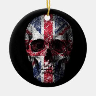 Ornamento De Cerâmica Crânio BRITÂNICO da bandeira