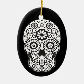 Ornamento De Cerâmica Crânio de sorriso do açúcar