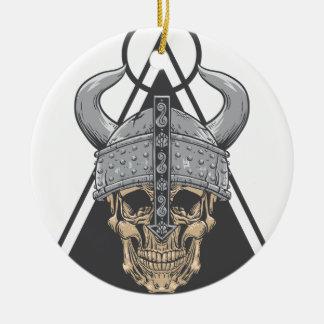 Ornamento De Cerâmica Crânio de Viking