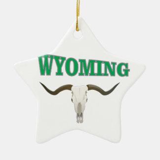 Ornamento De Cerâmica Crânio de Wyoming