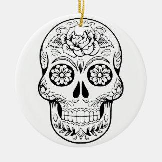 Ornamento De Cerâmica Crânio do açúcar