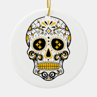 Ornamento De Cerâmica Crânio do açúcar de Pittsburgh