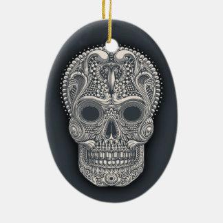 Ornamento De Cerâmica Crânio do açúcar do Victorian