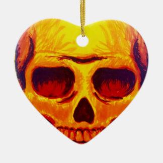Ornamento De Cerâmica Crânio do esboço