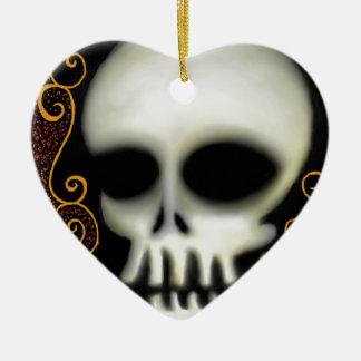 Ornamento De Cerâmica Crânio do fantasma