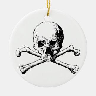 Ornamento De Cerâmica Crânio dos Crossbones