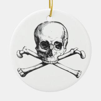 Ornamento De Cerâmica Crânio e Crossbone do pirata