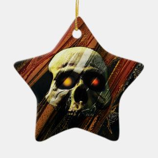 Ornamento De Cerâmica Crânio escuro