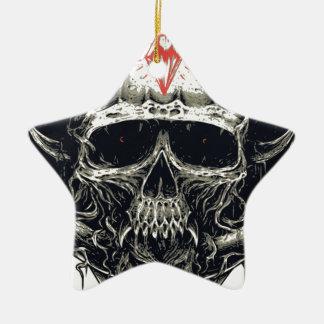 Ornamento De Cerâmica Crânio Horned do diabo