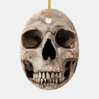 Ornamento De Cerâmica Crânio velho resistido