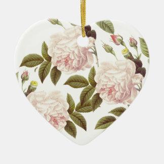 Ornamento De Cerâmica Creme três cor-de-rosa