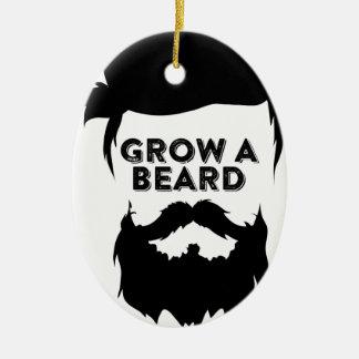 Ornamento De Cerâmica Cresça uma barba então que nós falaremos
