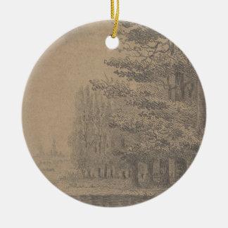 Ornamento De Cerâmica Criação da paisagem do Jesus Cristo