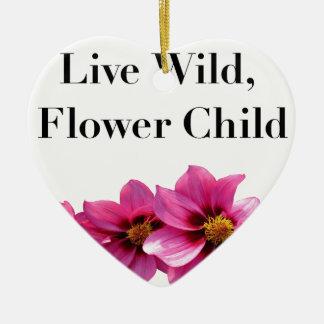 Ornamento De Cerâmica Criança de flor selvagem viva