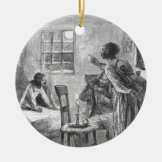 Ornamento De Cerâmica Crianças despertos na Noite de Natal