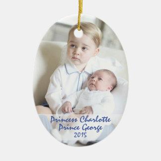 Ornamento De Cerâmica Crianças reais - George & Charlotte