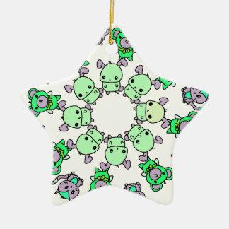 Ornamento De Cerâmica criaturas pequenas bonitos
