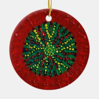 Ornamento De Cerâmica Crisântemo da árvore de Natal