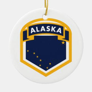 Ornamento De Cerâmica Crista da bandeira do estado de Alaska AK