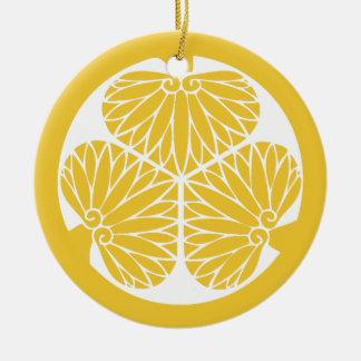 Ornamento De Cerâmica Crista de segunda-feira do clã de Tokugawa